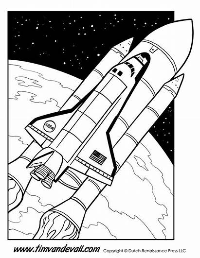 Shuttle Space Coloring Pages Printable Printables Science