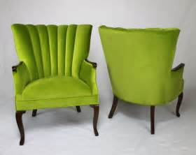 apple green channel back wing back chairs vintage chairs