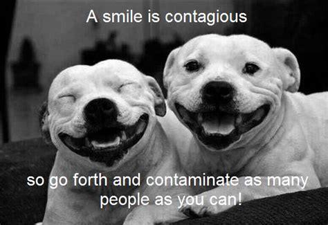smile  contagious    ans contaminate