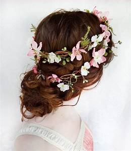 Rustic Wedding Hair Wreath Woodland Headpiece Pink