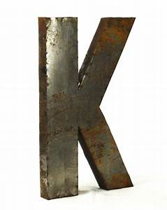industrial rustic metal large letter k 36 inch kathy kuo With metal letter k