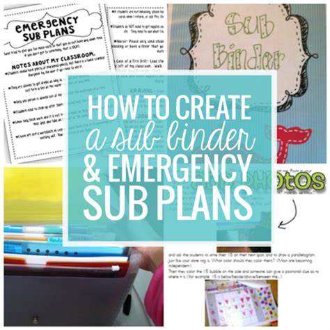 emergency substitute lesson plans template free how to create a sub plan sub binder and emergency sub