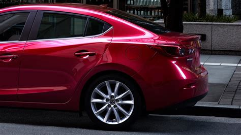 mazda  red color  side view images  wallpaper