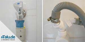 Waschmaschine Abfluss Anschluss : waschmaschine anschlie en anleitung f r zulauf abfluss ~ Buech-reservation.com Haus und Dekorationen
