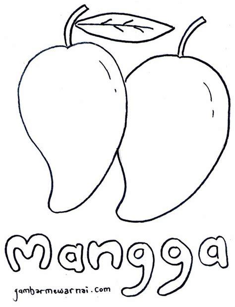 belajar mewarnai buah mangga buat anak barang untuk