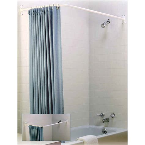 90 degree curved shower curtain rod curtain best ideas