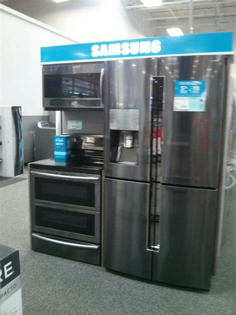 black stainless appliances samsung kitchen design decor