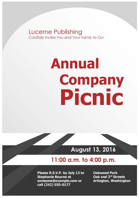 corporate picnic invitations