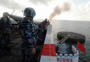 Chinese South China Sea Island Helicopter Landing Platform ...