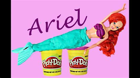 mermaid play doh tutorial   ariel costume kids