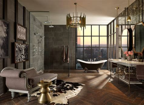Traditional Contemporary Bathrooms : How To Mix Modern + Traditional In The Bathroom