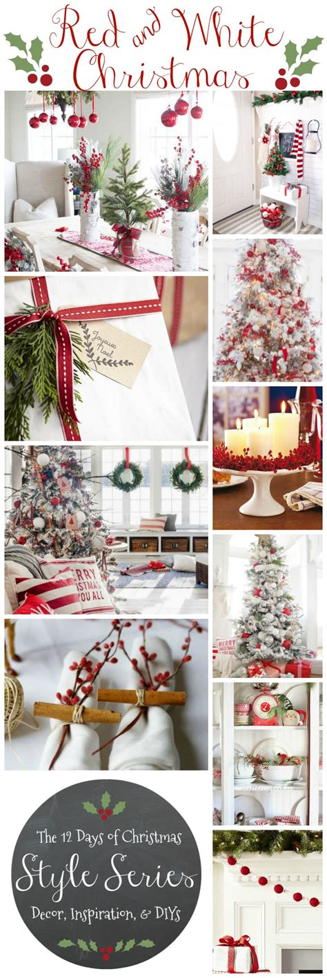 classic red white christmas style series the happy housie