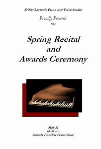 Dance Recital Program Template Recital Program Templates Layton Music Games And Resources