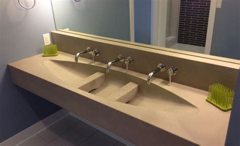 Laundry Sink Countertop by Concrete Sinks And Vessels The Concrete Network