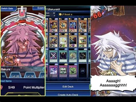 yami marik deck yugioh duel links how to beat lvl 40 yami bakura yu gi oh duel links
