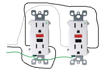 Wiring Gfci Outlet In Series by Electrical How Do I Properly Wire Gfci Outlets In