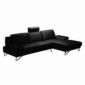 canape d39angle silvano imitation cuir noir meridienne With canapé d angle sans meridienne