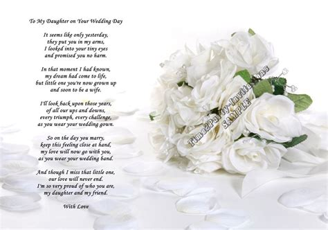 wedding day poem  son  daughter  law