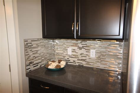 Mosaic Tile For Kitchen Backsplash by Glass Loft Titanium Clay Mix Mosaic Aceent Tile For The