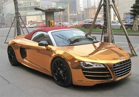 photo rose gold audi  spyder  awful