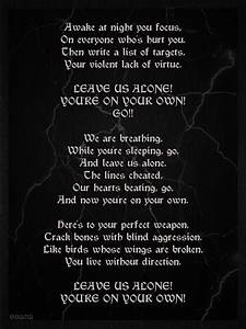 BVB Perfect Weapon Lyrics by GD0578 on DeviantArt