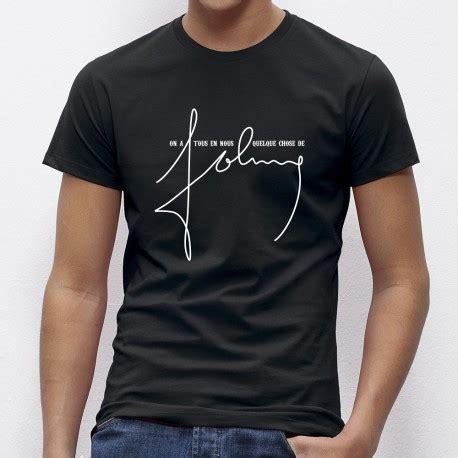 Tshirt Pria Johny shirt johnny hallyday hommage