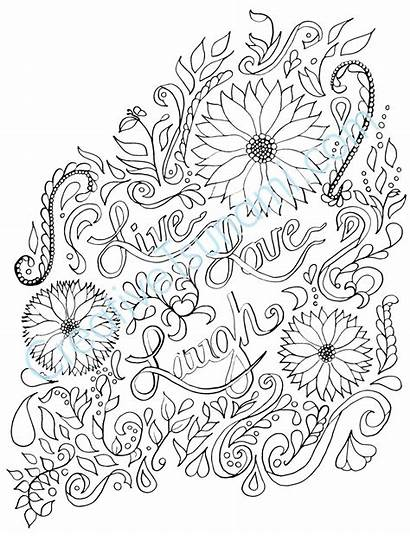 Coloring Laugh Adult Printable Adults Colouring Sheets