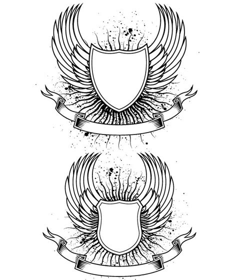 coat of arms template wings 69 best images about free heraldry vectors on pinterest