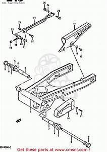 suzuki gsx r400 1987 h rr swing arm schematic partsfiche With suzuki gsx r 400