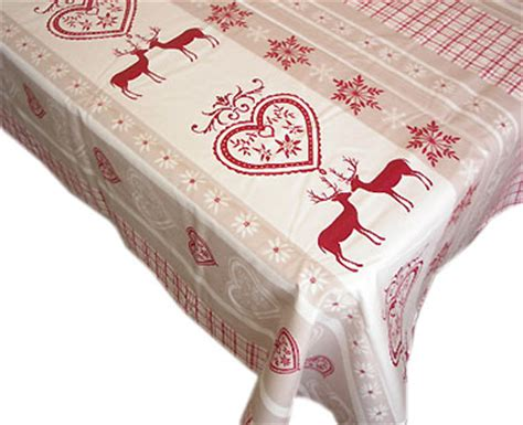 french coated tablecloth chambery raw red provence