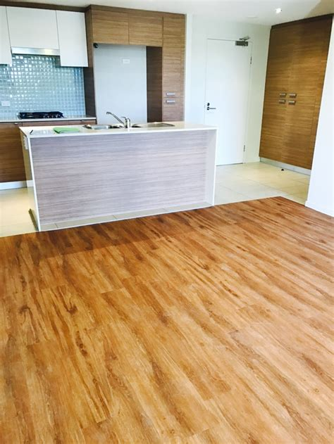 vinyl plank flooring qld acoustic luxfeel case study natural spotted gum southport qld