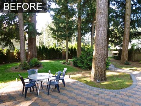 backyard makeover backyard makeover with irrigation system for home in langley bc