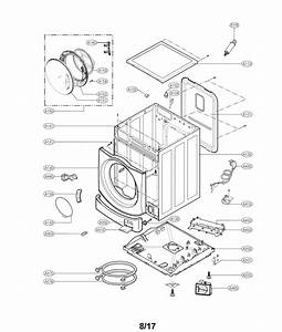 Lg Wm3488hw Washer Drain Pump And Motor Assembly