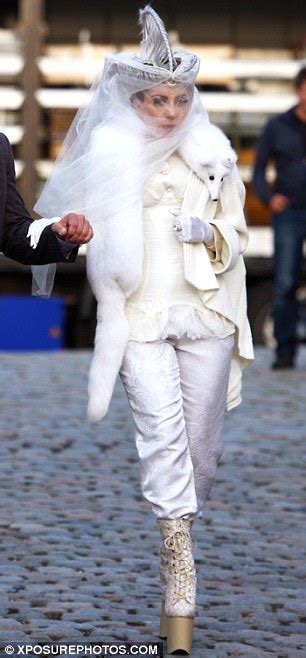 lady gaga steps   eccentric dress sense  wearing