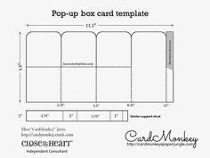 pop up card box template christmas pop up box card step by step dimensions lots of pics and link by dina kowal