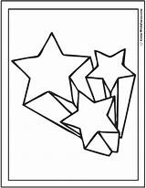 Coloring Star Shooting Pages Sheet Printable Template Three Stars Point Adult Pdf Designlooter Colorwithfuzzy Getcolorings sketch template