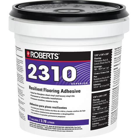 vinyl flooring adhesive roberts 2310 1 gal premium fiberglass and luxury vinyl tile glue adhesive 2310 1 the home depot