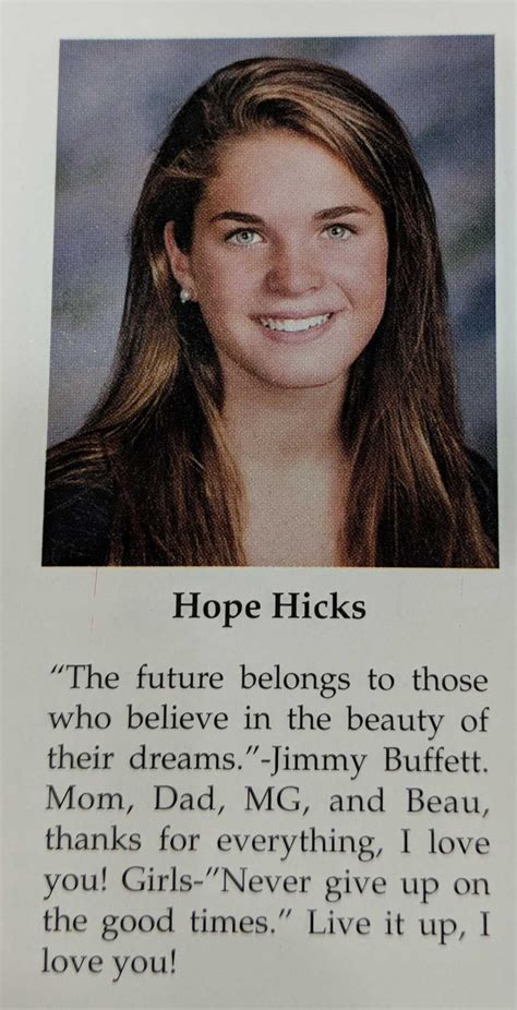 Hope Hicks Greenwich High School