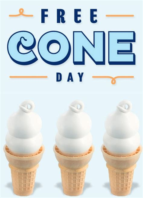 cone day  dairy queen