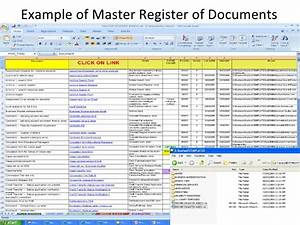 version control and storage With document register software