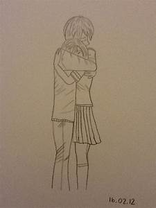Drawing Of A Boy And Girl Hugging Tumblr | www.imgkid.com ...