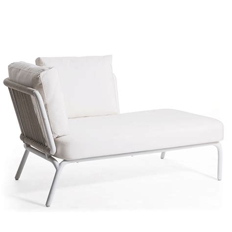 chaise longue pvc blanc chaiselongue left sofa yland jardinchic