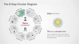Flat 8 Step Circular Diagram Template