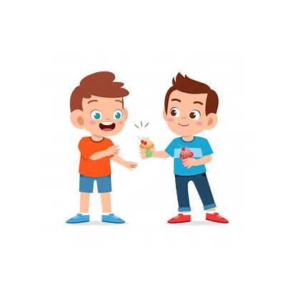Eating Cupcakes Freepik Happy Boy Brother Cartoon