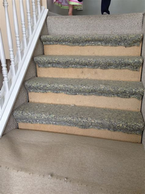 how to install carpet on stairs remodelaholic 60 carpet to hardwood stair remodel
