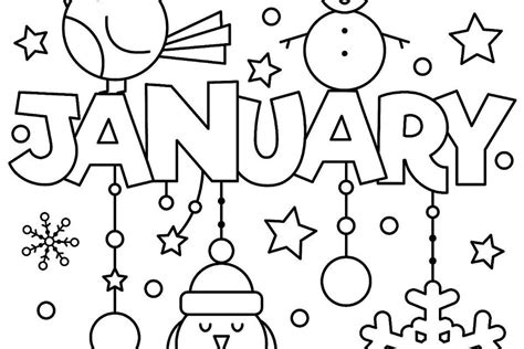 New Year & January Coloring Pages