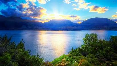 Sunrise Mountains Behind Nature Mountain Sun Rise
