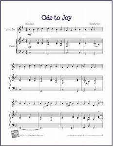Beginner Alto Saxophone Finger Chart Ode To Joy Beethoven Ode To Joy Saxophone Sheet Music