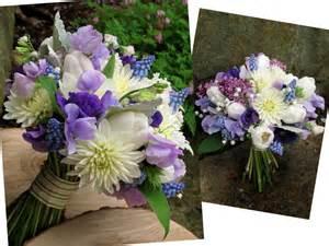 Blue and Purple Wedding Flowers