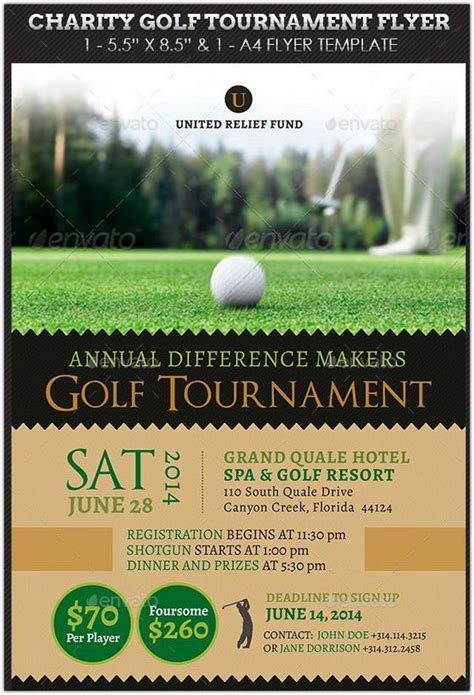 charity golf tournament flyer hd   hd template